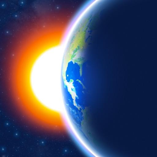3D Earth weather widget